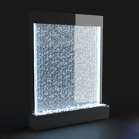 decorative water panel air bubbles 3d max