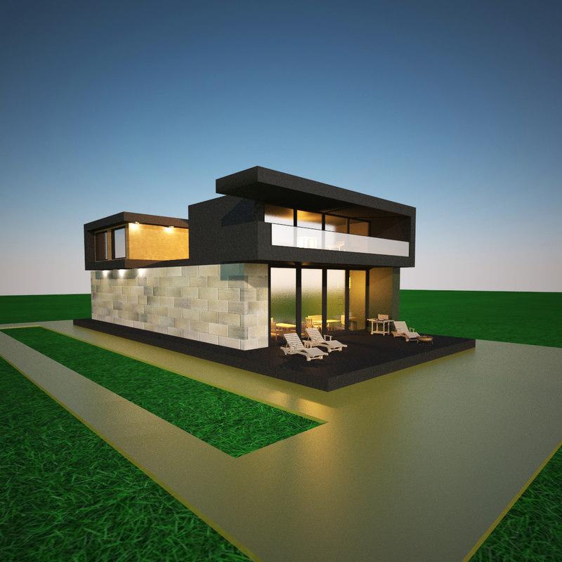 modern house 3d ma