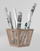 cesto planos planes basket 3d model