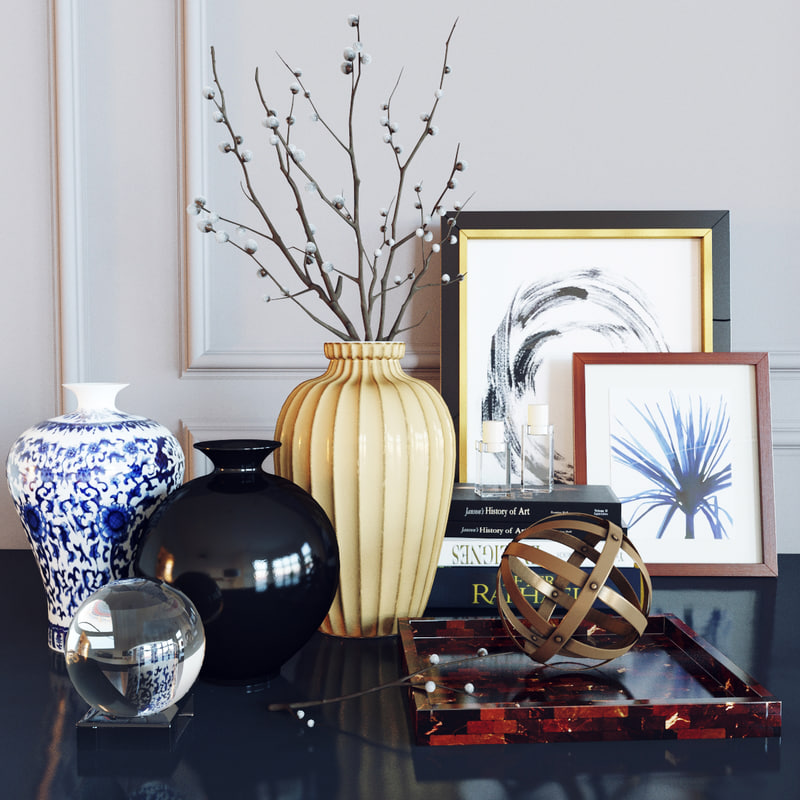 3d decorative set willow