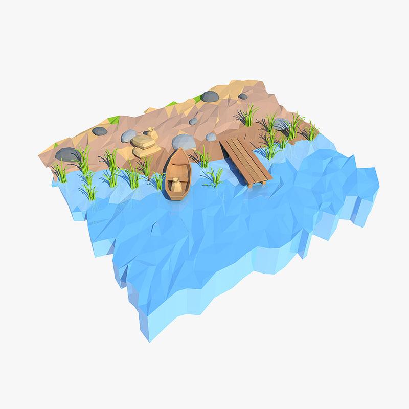 shore cartoon 3d max