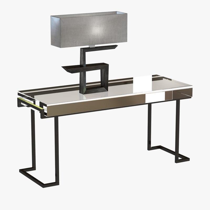 3d table key lamp mies model