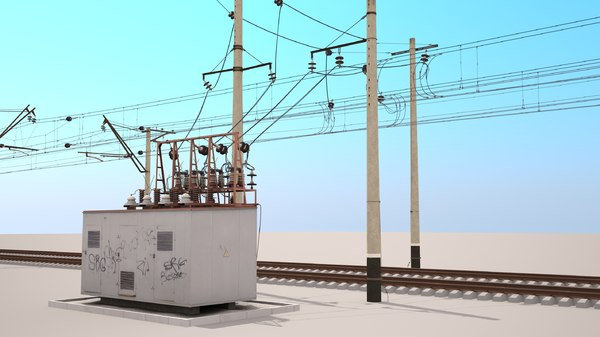 railway catenary switch box 3d max