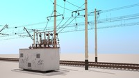 railway catenary switch box 3d model