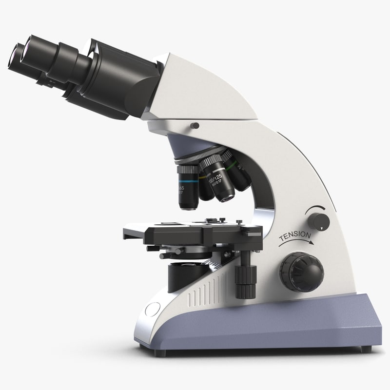 3d model microscope micro