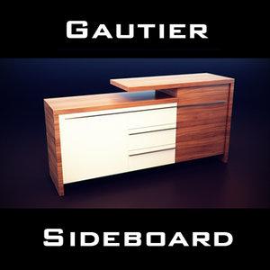 3d model gautier neos sideboard