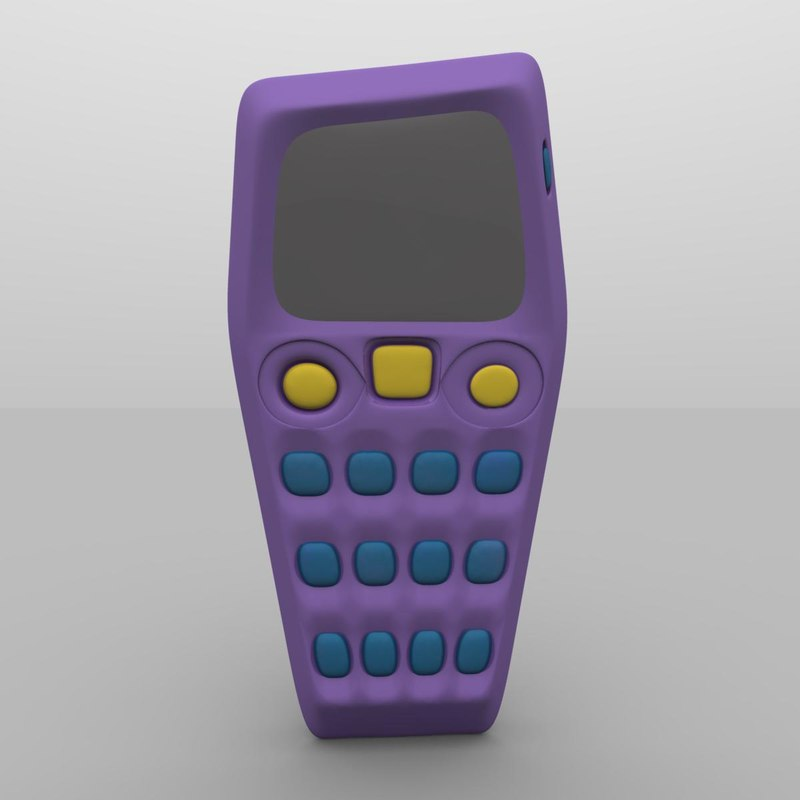 3d model asymmetrical mobile phone