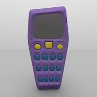 3d model asymmetrical mobile phone