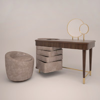 3d dressing table smania loren