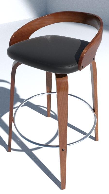 obj bar stool wood