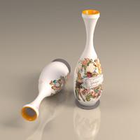 vintage design vase 3d max