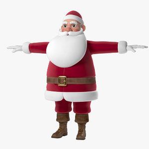 3d model santa claus cartoon animation