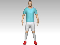 footballer zbrush shoes 3d obj
