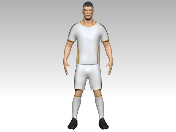 footballer zbrush shorts 3d model