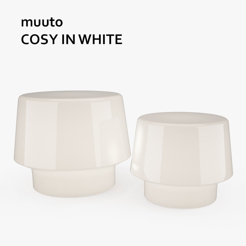 muuto cosy white lamps 3ds