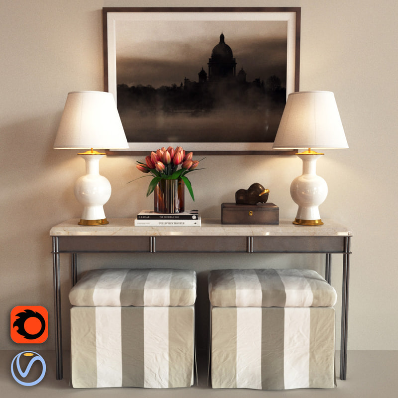 3d iron table console