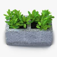 3d model cinder block garden 2