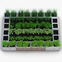 3d cinder block garden