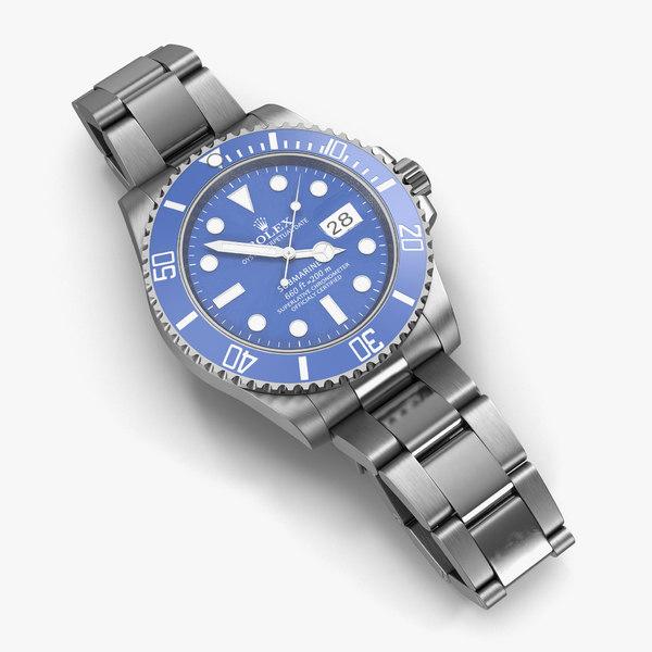 obj rolex submariner date blue