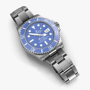 obj rolex submariner date blue
