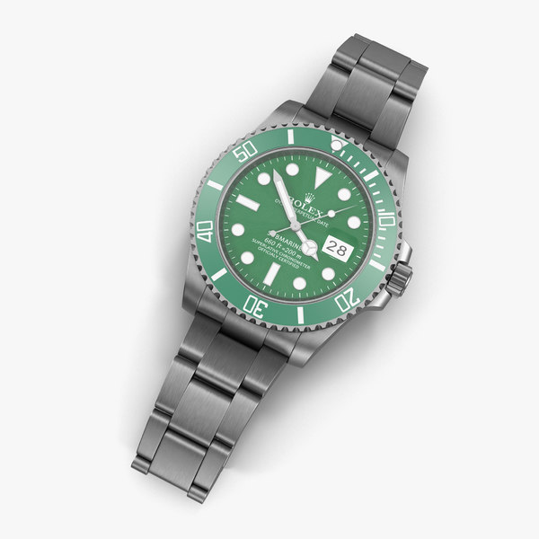 3d rolex submariner date green model