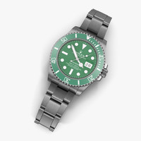 3d rolex submariner date green model