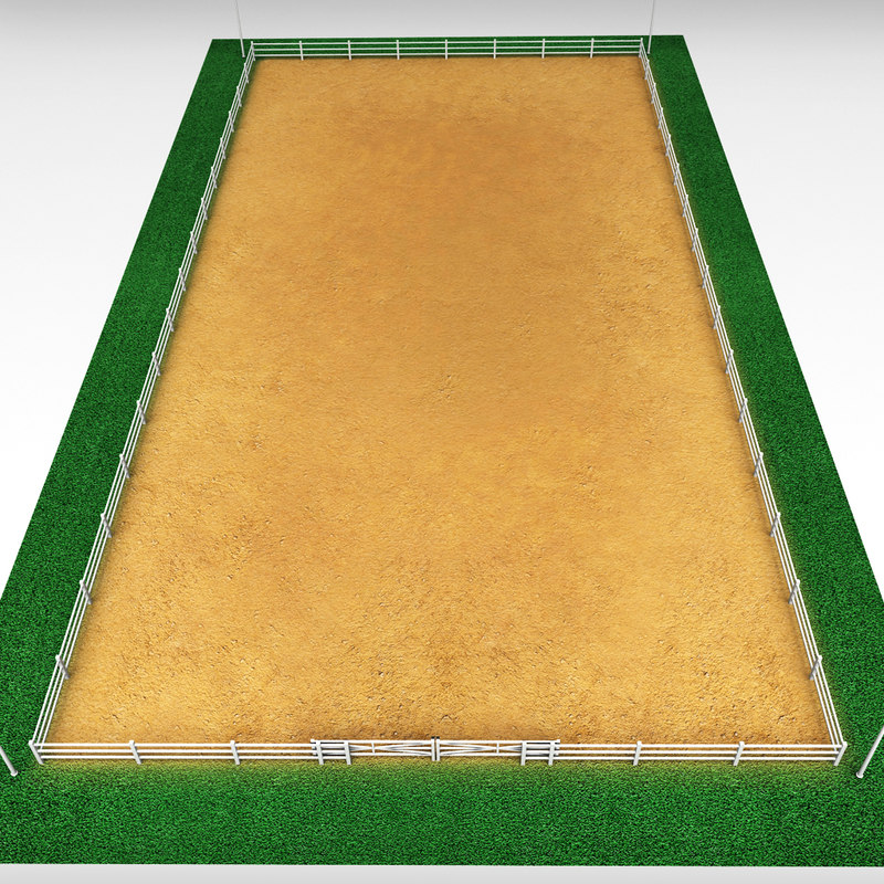 horse jumping riding arena 3d model