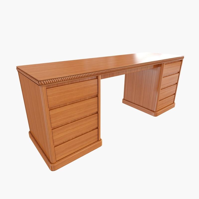 3d classic bedroom table model