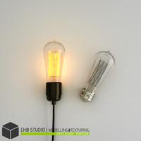 3d bulb lamp vintage model