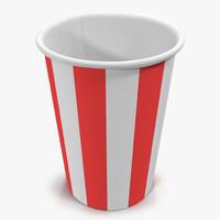 cup popcorn 1 3d model