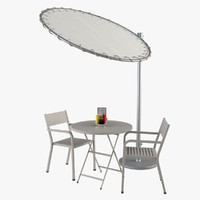 3d model outdoor garden furniture