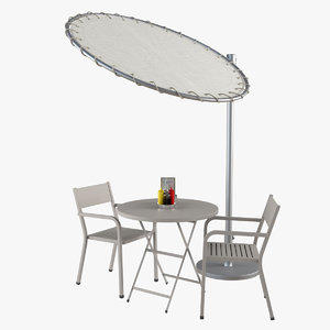 3d model outdoor garden furniture