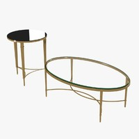 CHLOE COFFEE TABLE by baker and round french table by global views