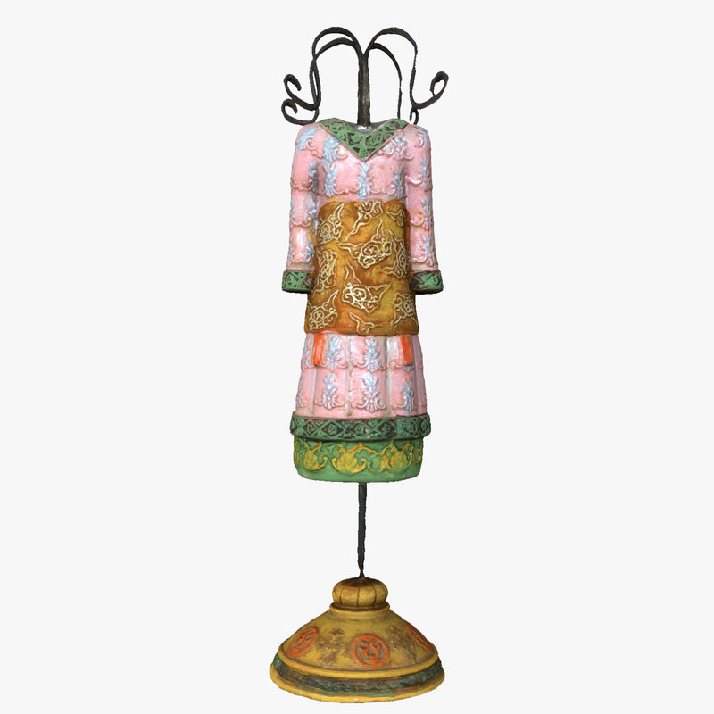 3d oriental dress figurine