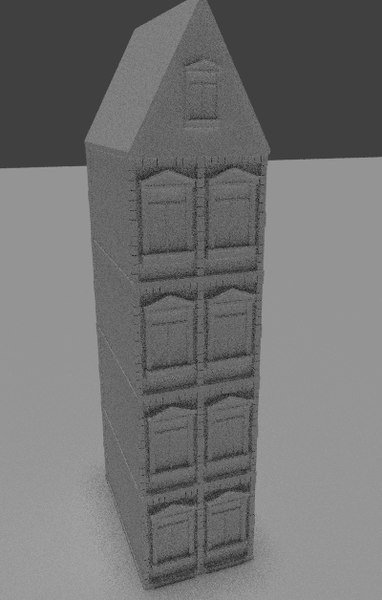 3d model buildings set
