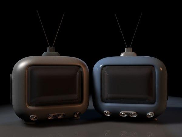 crt tv obj