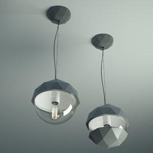 fractal dome glass light 3d obj