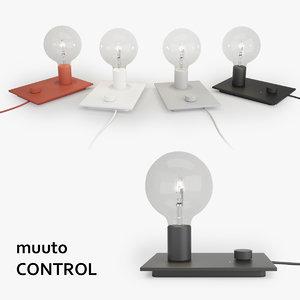 3d muuto control lamp