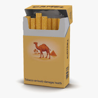 Opened Cigarettes Pack Camel