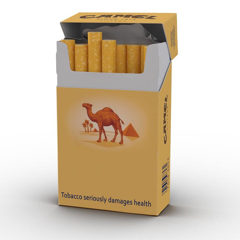 3d Model Opened Cigarettes Pack Camel