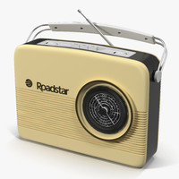 retro radio modeled 3d max
