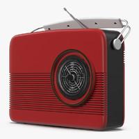 retro radio generic 3d 3ds