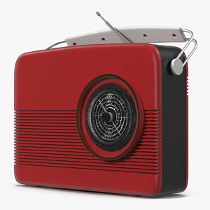 retro radio generic modeled c4d