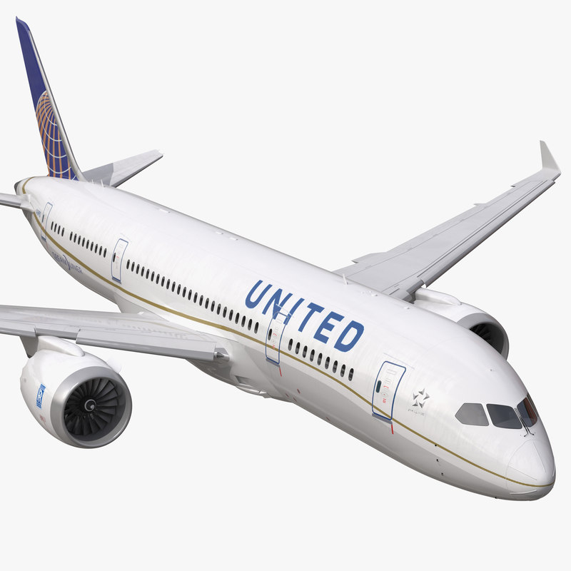 boeing 787 3 united airlines 3d model