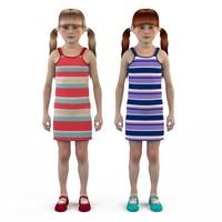 fashion set baby dressed 3d max