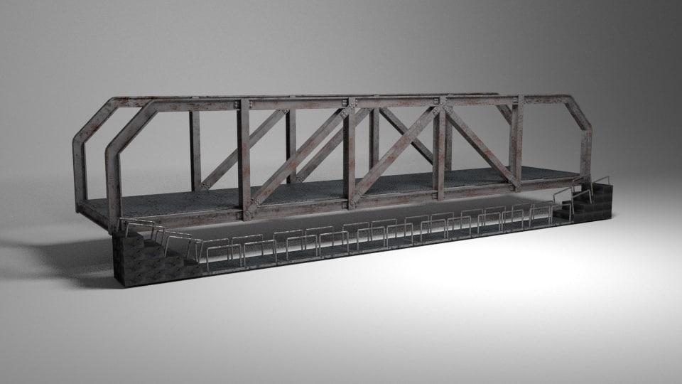 3d model renders bridge