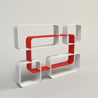 3d acrylic shelves