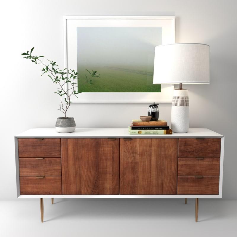 cabinet siena 4 3d model
