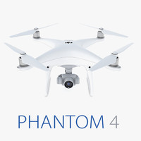 3d dji phantom 4 model