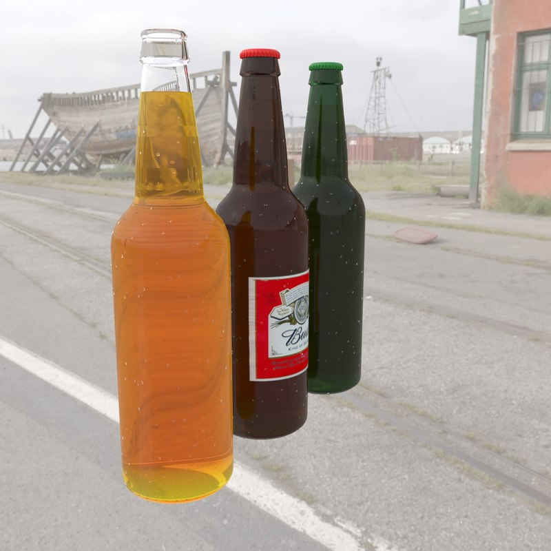 3d bottles caps model